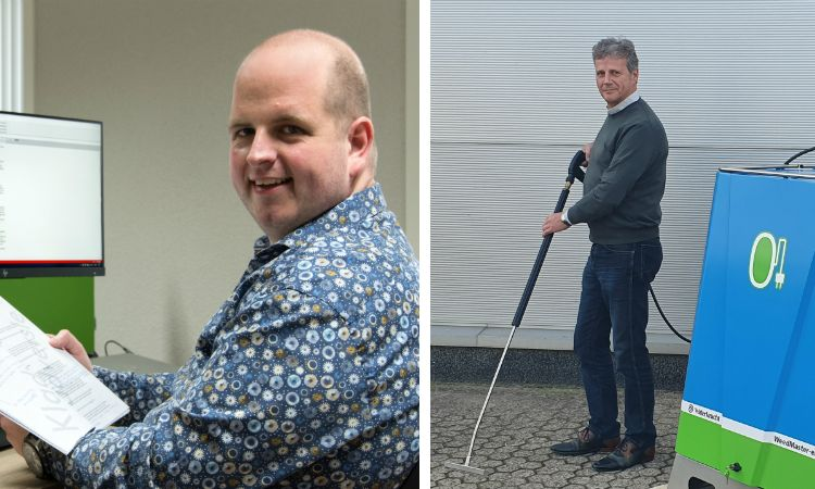 Bjorn Nijhuis (Green Engineers) (links) en Jan van der Zanden (Waterkracht) (rechts).