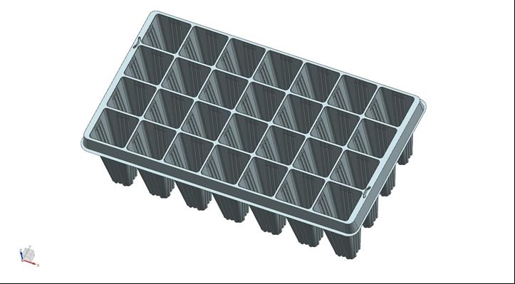 Er wordt eerst een 3D-model van de tray gemaakt