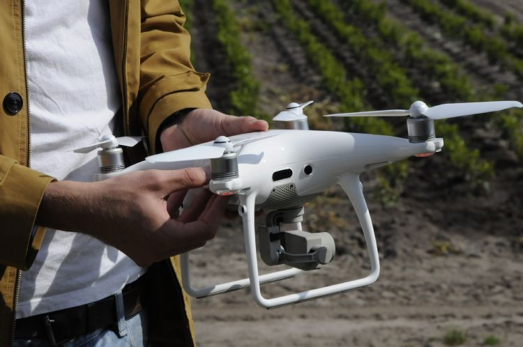 De drone die Joost Sterke gebruikt voor zijn <i>precision farming</i>