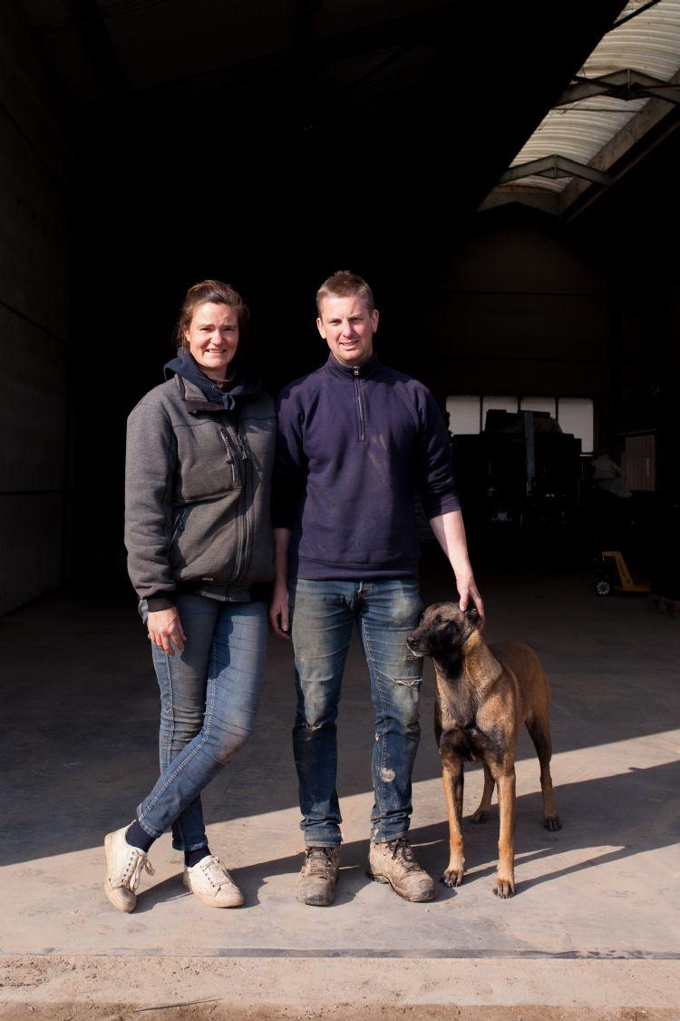 Kristof Van der Haegen en echtgenote Mindy runnen samen de kwekerij