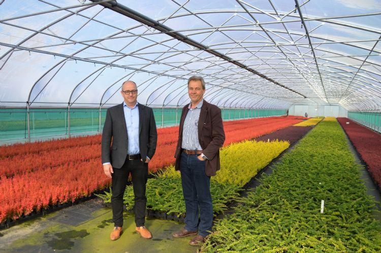 Jan van Hemert (Rovero, l) en Toon Althuizen (Ergon Kwekerij)