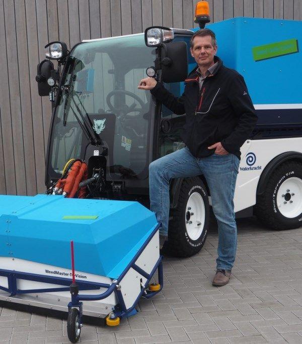 Maarten Kleinnibbelink bij de WeedMaster TC-Vision