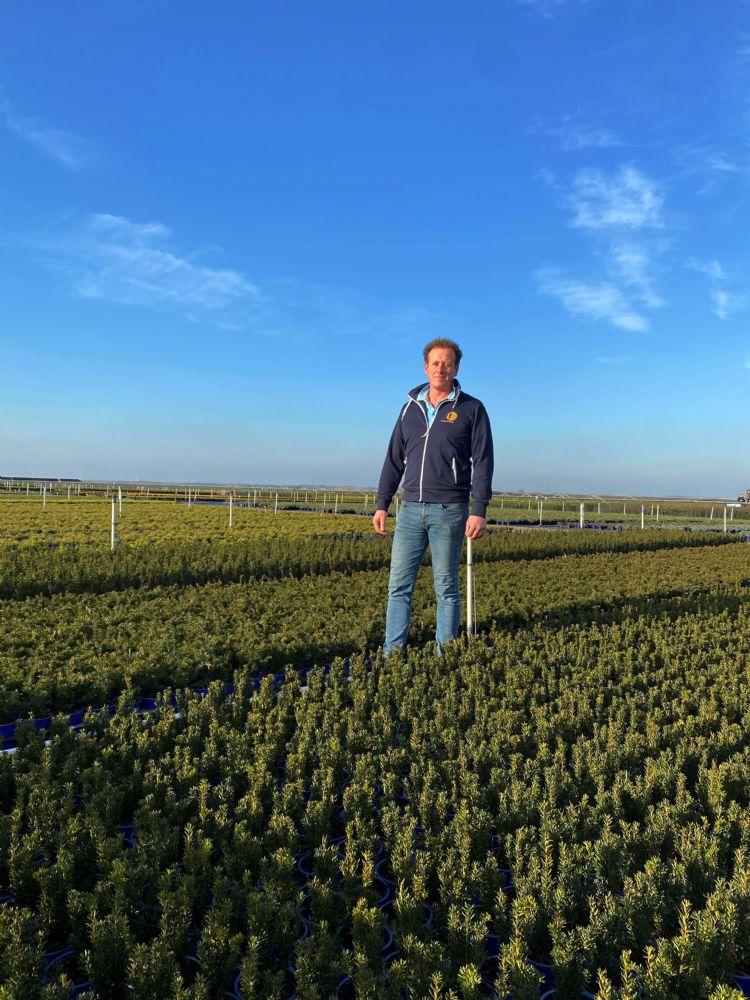 Hendrik Hak op de kwekerij