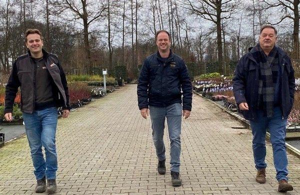 Arjen Timmer (links), Jos Konijn (midden) en Leen Konijn