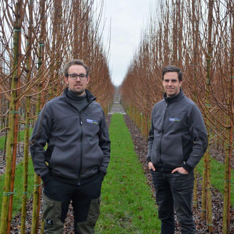 Initiatiefnemers Marten Willemsen (l) en Michiel Klaassen