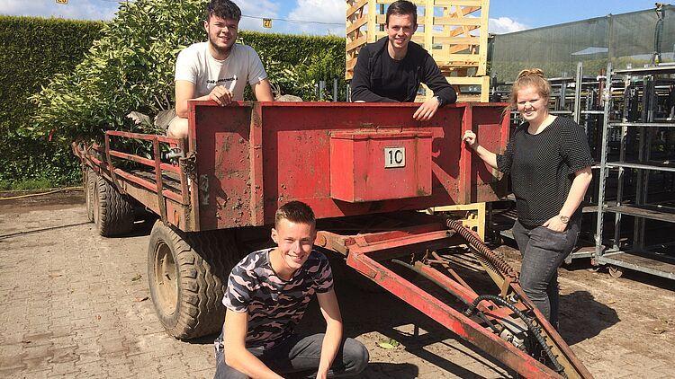 Linksboven Rens de Swart, rechtsboven Sem van der Werf, linksonder Jorian Verwoert en rechtsonder Rowy Roelands. Foto: LTO