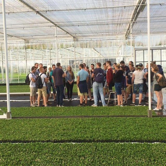 Studenten van de Has op bezoek bij Wilbert Stek
