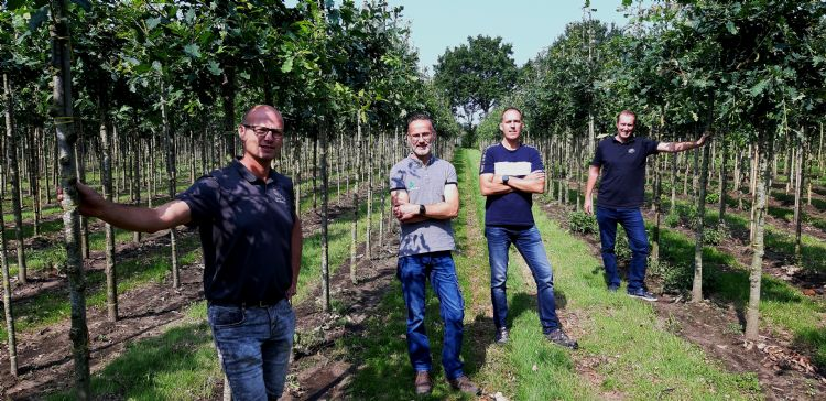 Van links naar rechts: Ben van der Meijden, Simon van Houwelingen, Rob Verkoelen en Jesper Tas